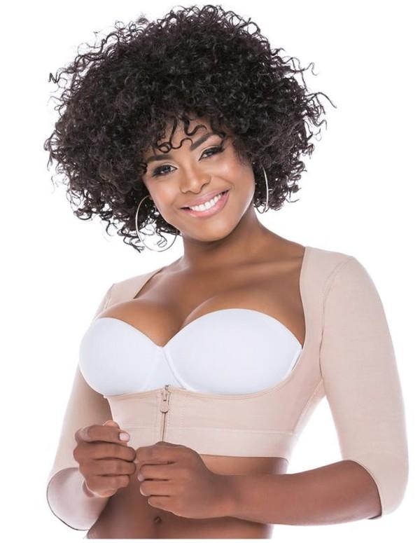 Brasier postquirúrgico beige senos libres con mangas fs328-C