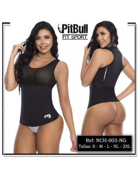 chaleco reductor pitbull negro cn003